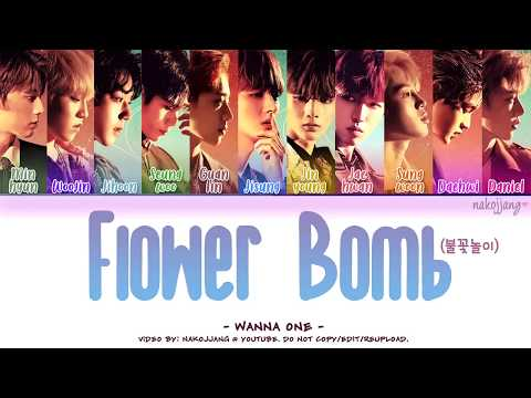 Free Download Wanna One (워너원) – Flowerbomb (불꽃놀이) (color Coded Lyrics Eng/rom/han/가사) Mp3 dan Mp4