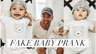 FAKE BABY PRANK ON HUSBAND (IT WORKED😭)