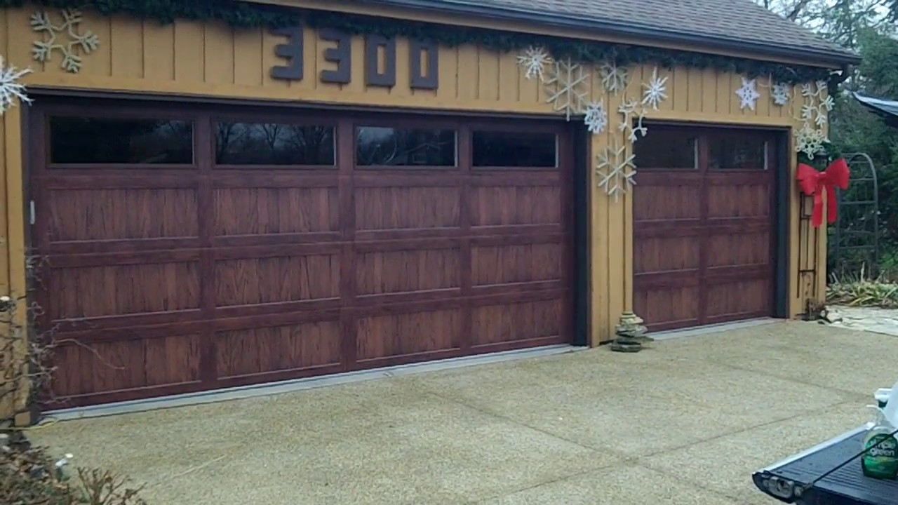 A Chi Accents Dark Oak Garage Doors In Woodridge Il Youtube