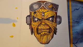 Drawing Eddie from iron maiden