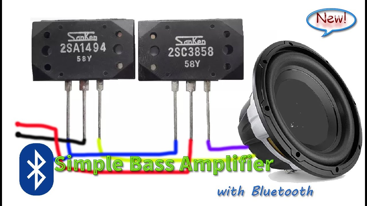 Make Simple Bass Amplifier with Transistor 2SC3858 and ...