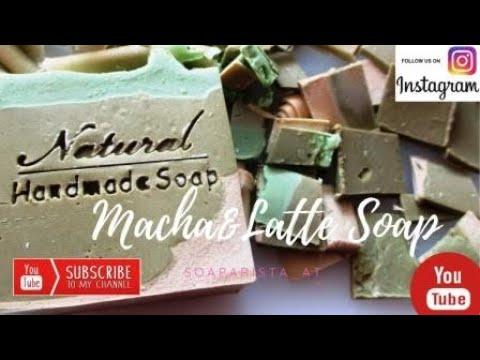 How To Make A Macha Latte Soap / Handmade Natural Soap DIY