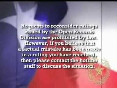 Open Records Request Training Video (Texas!)