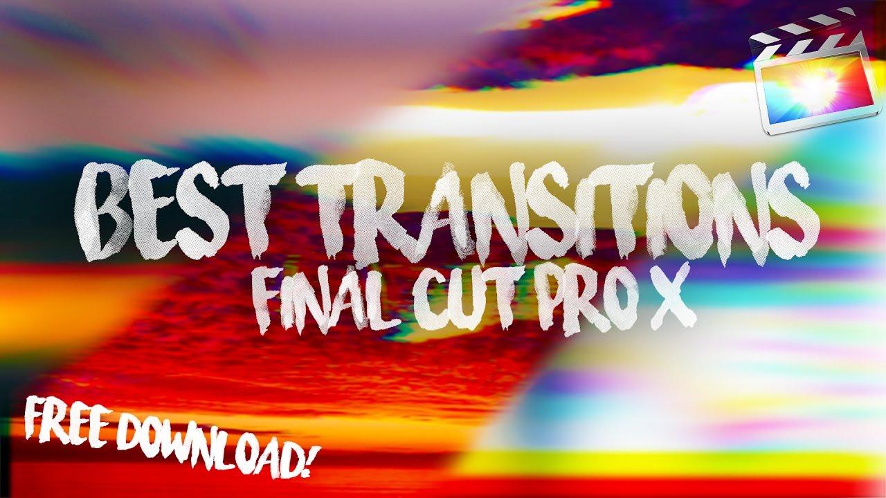 BEST TRANSITION PRESETS IN FINAL CUT PRO!! (Free)