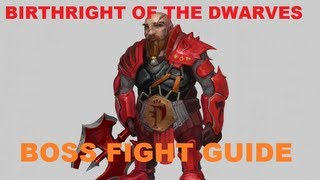 Birthright of the Dwarves Boss Fight Guide - How to kill Grimsson Easy! [Runescape 2013]