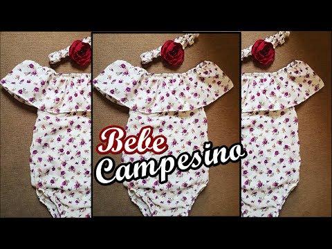 Vestido Campesino Para Bebe Pañalero Campesino Youtube