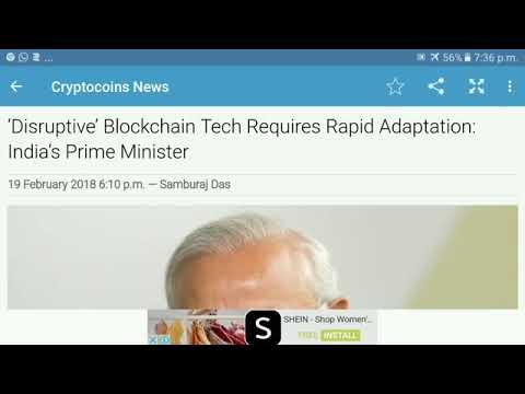 Bitcoin news # crypto news Disruptive' Blockchain Tech -: India's Prime Minister Narendra Modi.