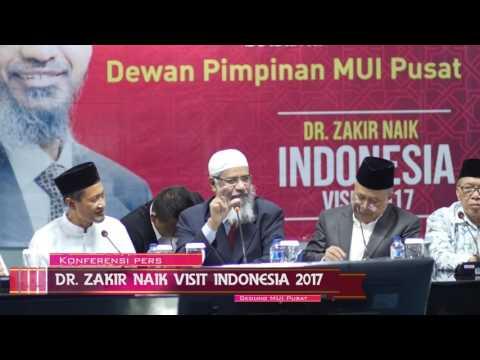 Press Conference Dr Zakir Naik Jakarta Indonesia 2017