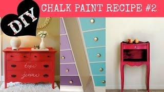Diy Chalk Paint Recipe 2
