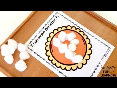 Pumpkin Pie ABC Mats