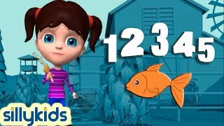 12345 Once I Caught a Fish Alive | Number Song - 3D Animation English Nursery rhyme for children