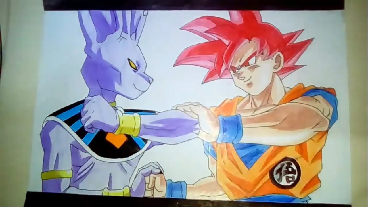 Speed Drawing Goku Vs Bills Youtube