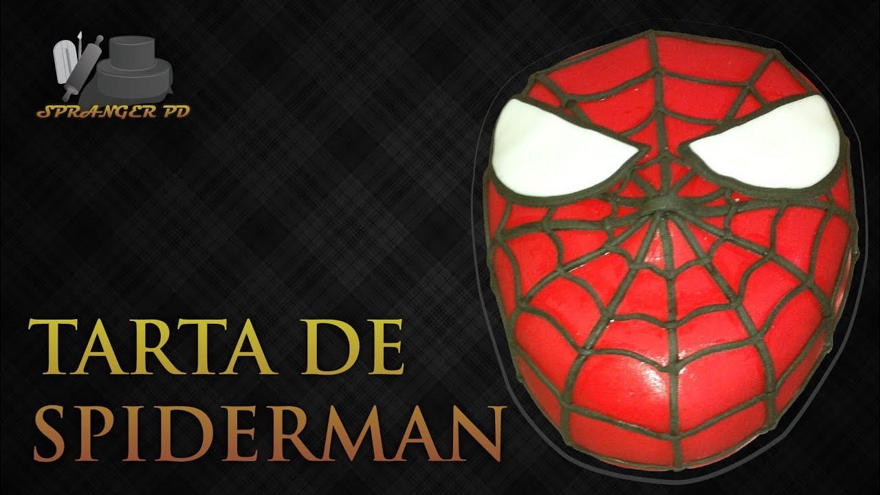 Red Spiderman Cake