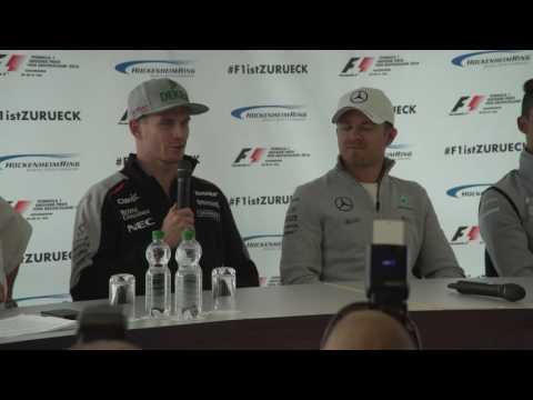 F1 2016 - Rosberg, Hulkenberg and Wehrlein on track – F1 back in Germany