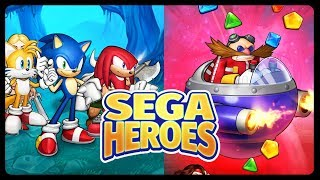 SEGA HEROES??!!! - NEW MOBILE GAME SOFT LAUNCHED WITH SONIC CHARACTERS!!! #iOS #Android