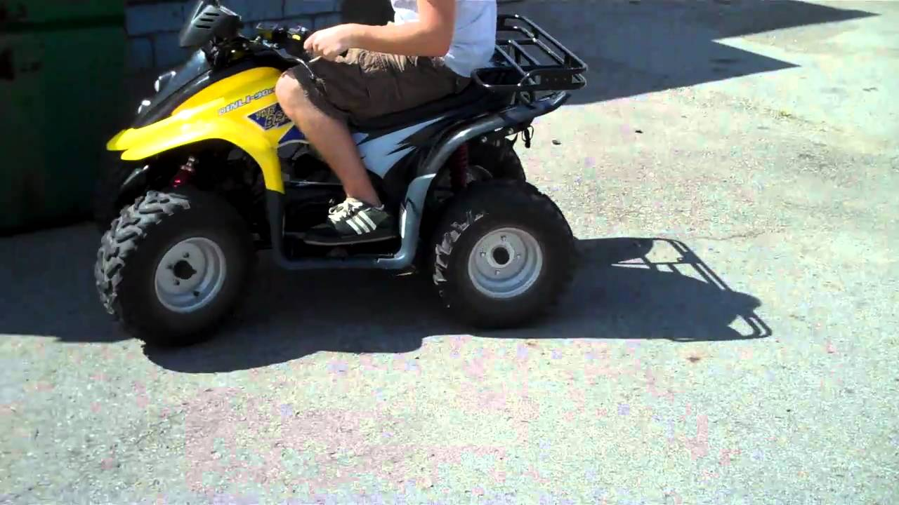 Dinli 90cc Four Wheeler Lot 441 Driving Youtube