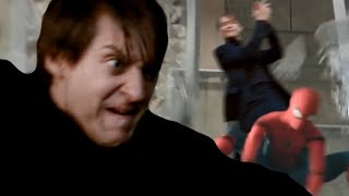 Bully Maguire Kicks Tom Holland Down an Elevator