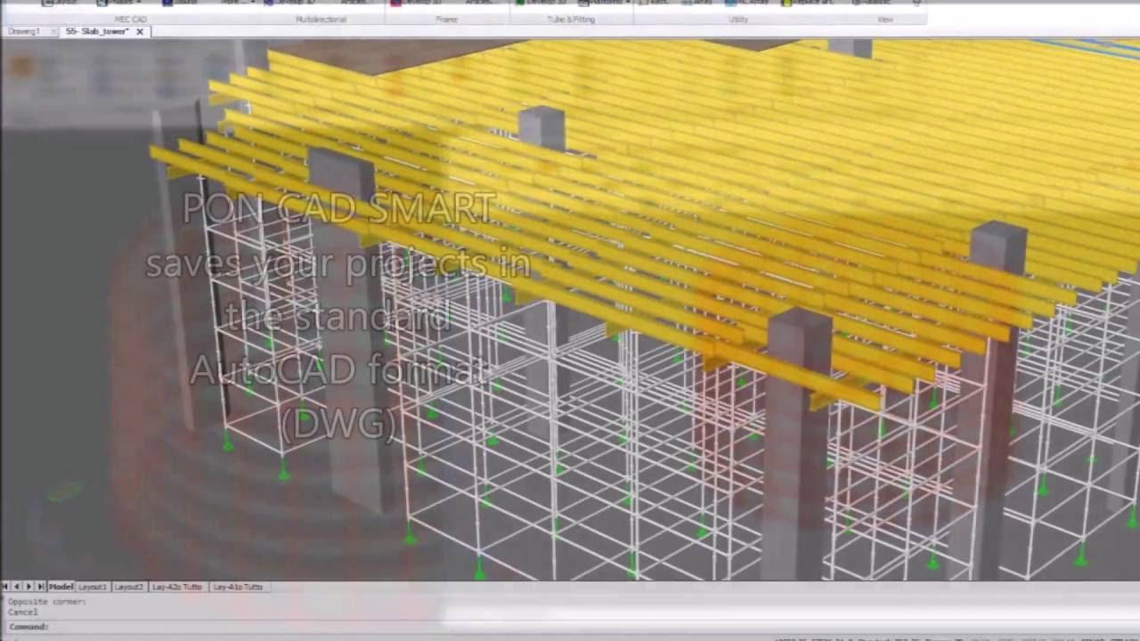 pon cad scaffolding