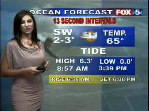 San Diego Fox5 weather girl Chrissy Russo doing the weather!