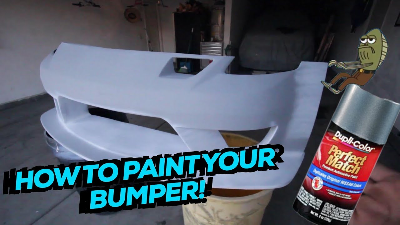 How to paint a bumper with your own hands 85