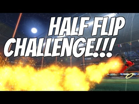 Rocket League - Half Flip Trainer Challenge!!! - YouTube