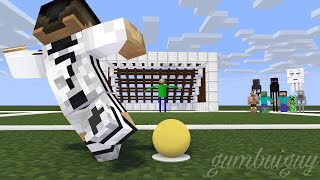 Monster School : PENALTY SHOOTS CHALLENGE (Ft. Cristiano Ronaldo & Baldi - Minecraft Animation
