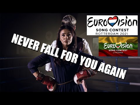 Voldemars Petersons - NEVER FALL FOR YOU AGAIN (EUROVISION 2021) (Official Lyrics Video)