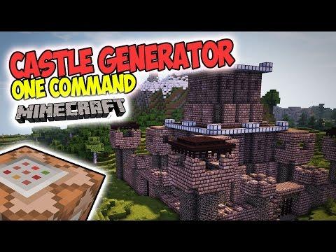 MINECRAFT: ONE COMMAND - CASTLE GENERATOR