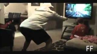 Dad Knocks out Kid on Xbox Kinect? EPIC FAIL!