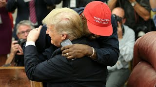 From youtube.com: Kanye West and Donald Trump Hug at the White House {MID-319844}