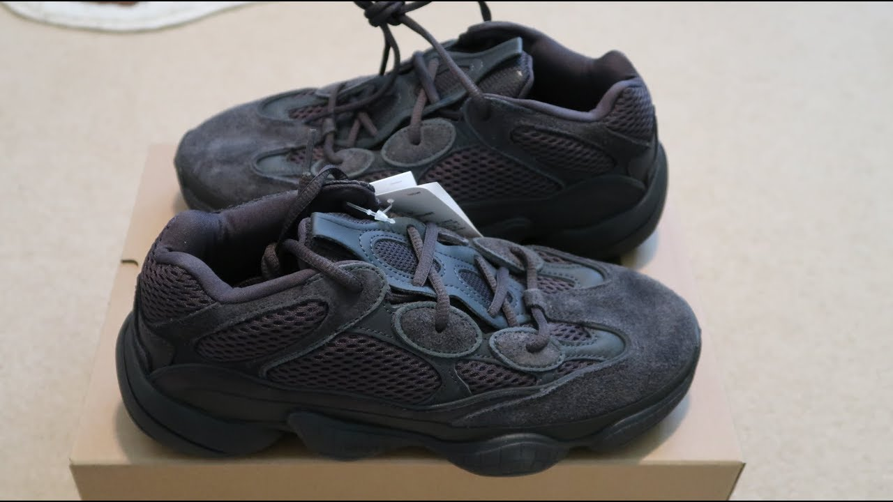best loved 3fa80 d9b28 Adidas Yeezy 500  Utility Black  Sneaker Unboxing