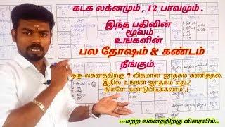Kadaga Lagna 2020 Tamil | Accurate calculation | kadagam Laknam | 12 Bavam | VivekAstrology | VA