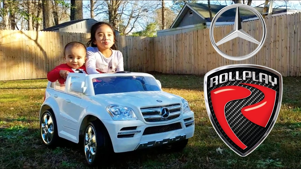 Baby Sound Trips On His Mercedes Benz Gl450 Suv 6v Ride