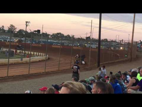 Lincoln Speedway 410 Sprint Car Hot Lap 9/3/16