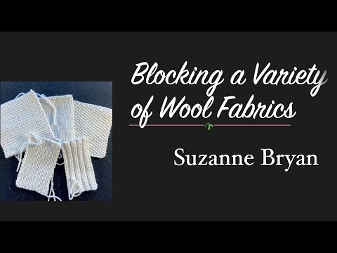 Blocking a Variety of Wool Fabric Swatches