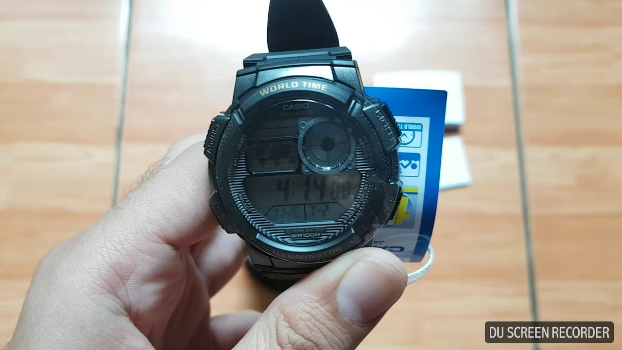 Unboxing And Hands On Casio Illuminator Ae 1000w 1avdf Youtube Jam Tangan Standard 1200wh 1bv