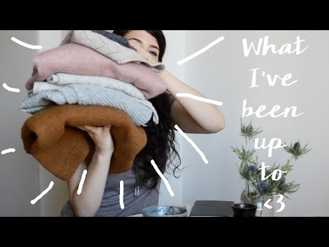 What I've been up to this past month / knitting vlog
