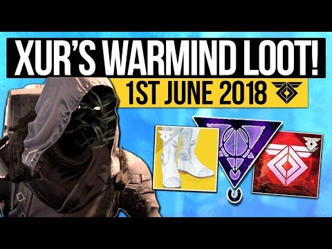 Destiny 2 | XUR LOCATION & DLC EXOTICS! - Exotic Weapon, Armor Inventory & More (1st June)