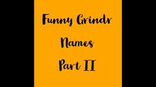 Best grindr display names