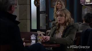 Emmerdale - Charity Kisses Vanessa On The Cheek (29th March 2018)