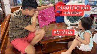 """Khương Dừa """"bốc phốt"""" Trà Sữa tè trong quần, Trà Sữa mắc cỡ mắc cười quá…"""