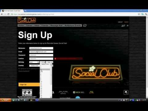 How to Sign up account for Rockstar Games