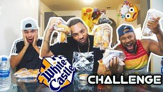 WHITE CASTLE CHEESE BURGER CHALLENGE / HOT CHEETOS MAC & CHEESE MUKBANG
