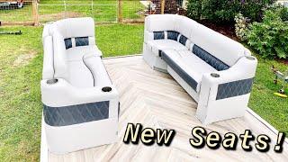 Pontoon Boat Rebuild Gets Beautiful New Seats