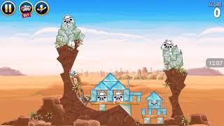 Прохождение Angry Birds Star Wars #1 [Планета Татуин *1] (Легко!)