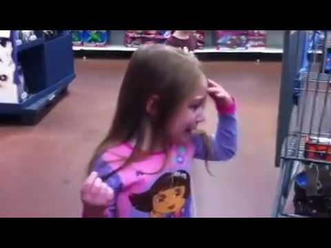Spoiled Kids in Walmart.  Epic temper tantrum.  Self Control Fail.  Total mayhem rotten little bratz