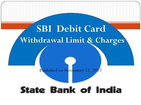 SBI Debits Cards & Insurance II Daily ATM Withdrawal Limit & Other Charges In Hindi