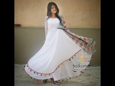 White Color Floor Length Kurti Designs