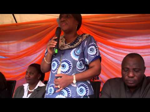 Madam Bose Adeniron of Federal Ministry of Health at the Handing over ceremony