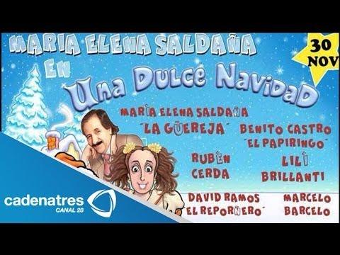 Maria Elena Saldaña habla de la puesta en escena Una dulce navidad